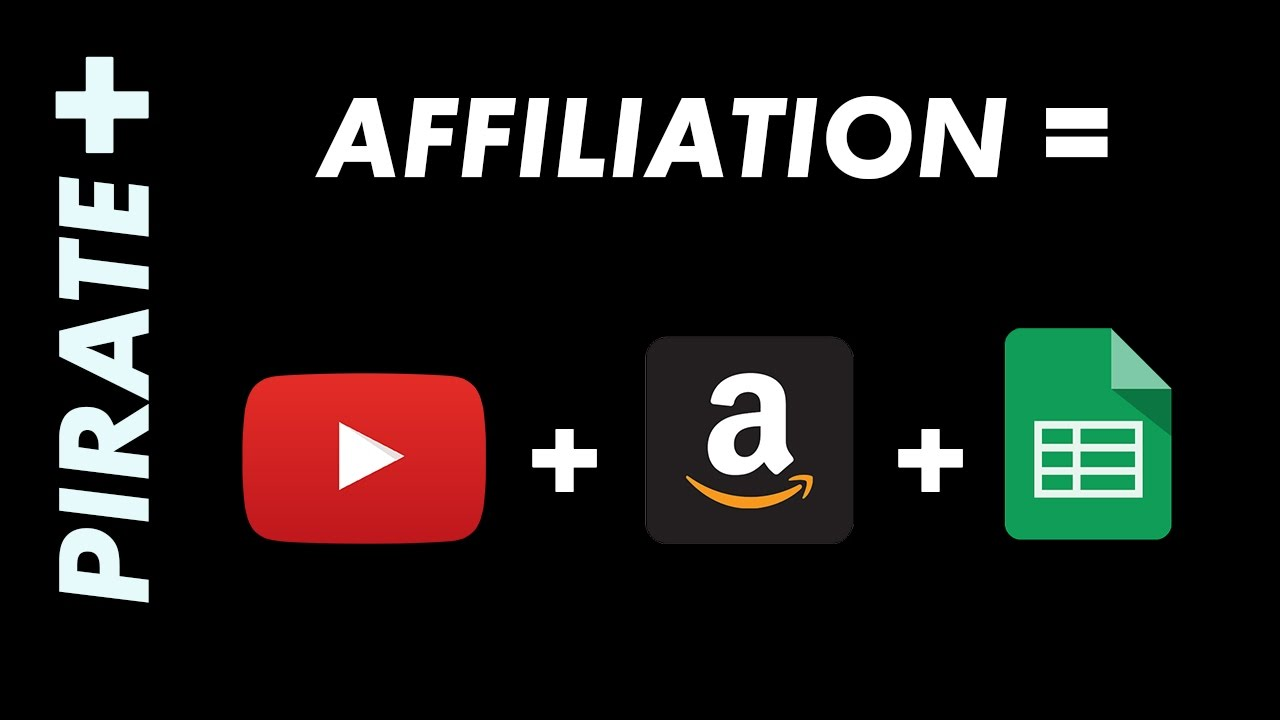 affiliation = youtube + amazon + google sheet