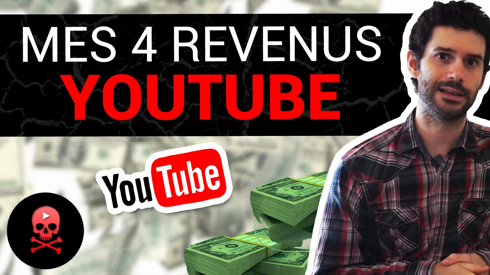 Mes 4 sources de revenu sur Youtube