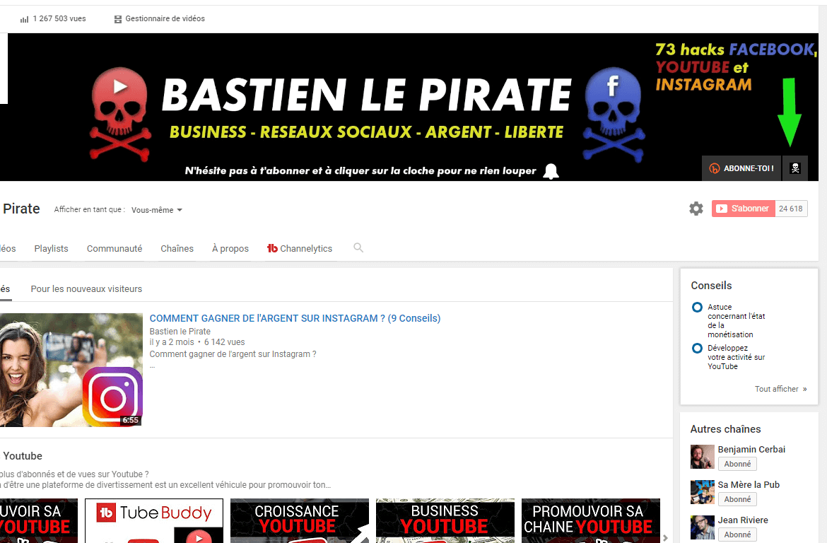 capturer des emails sur youtube