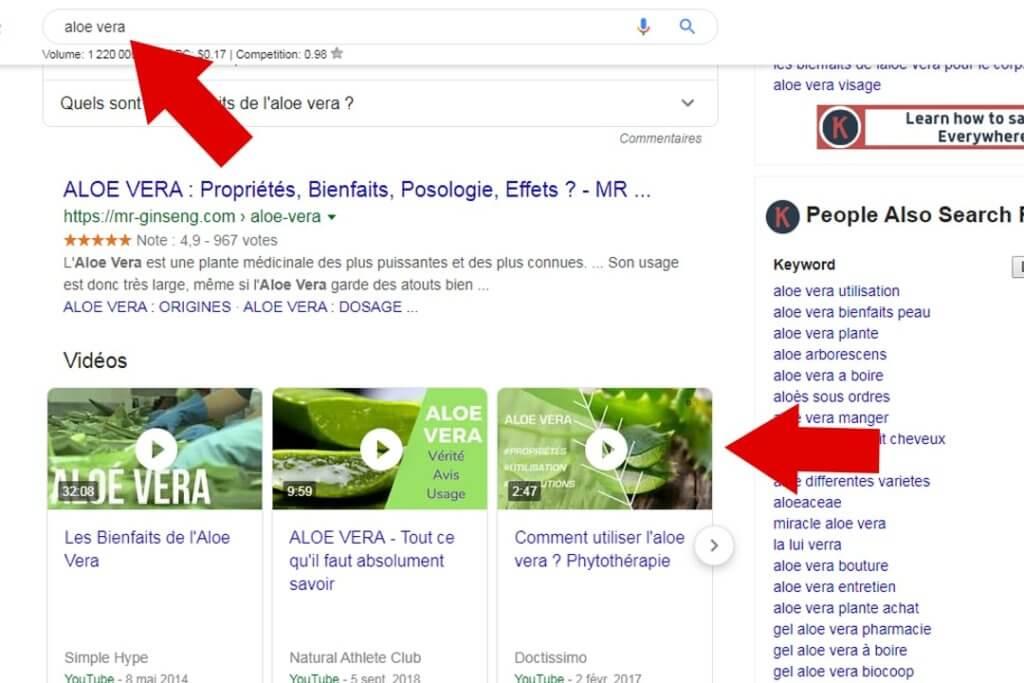 référencement youtube sur google